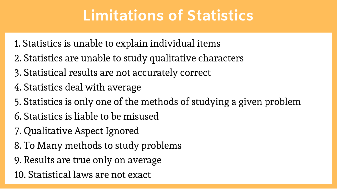 Limitations of Statistics
