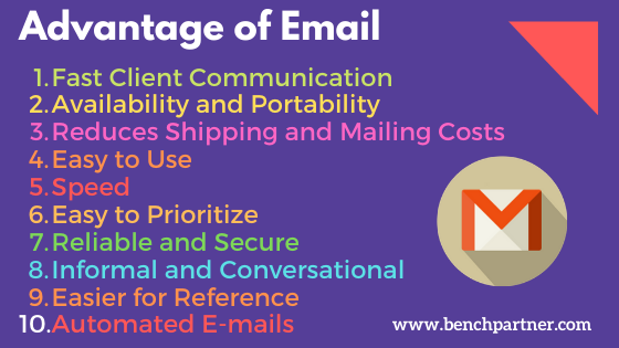 Advantage of Email Benefits of Email Pons of Email